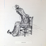 """Brad Aldridge """"In Search of an Exit"""" ink and pencil on paper, 14x11 $125"""