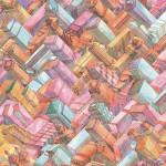 "Brian Foo ""Patterned New York"" $150, unique giclée print 19x13"