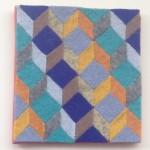 """Kathryn Jaller """"1"""" wool felt, 4x4 $150"""