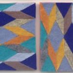 """Kathryn Jaller """"3"""" wool felt, 4x12 $250"""