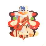 "Matthew Ortega ""Untitled (Mandala)"" art print, 13x13 $100"